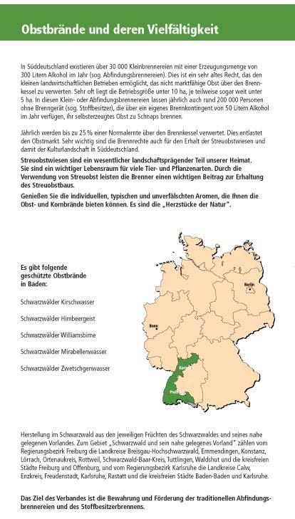 Infoposter Verband Badischer Klein Und Obstbrenner Ev